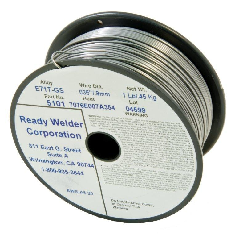 "Ready Welder » .035"" Stainless Steel Flux Core Wire, 1 lb. Spool ..."